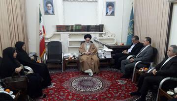 دیدار جمعی از مسئولان سازمان ملی استاندارد ایران با آیت الله حسینی بوشهری