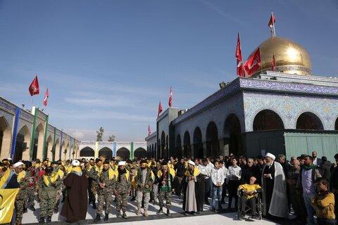 تصاویر/ اجتماع مدافعان حرم در حرم بانوی دمشق