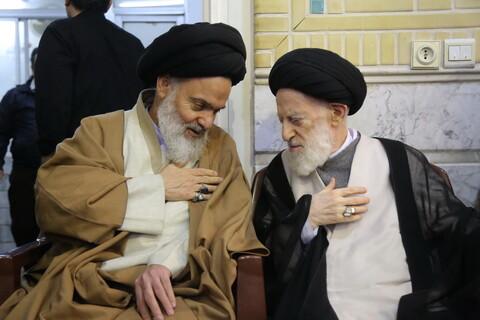 مراسم ترحیم همشیره آیت الله العظمی شبیری زنجانی
