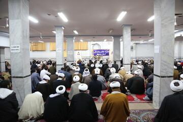 تصاویر/ گردهمایی طلاب و روحانیون زنجانی مقیم قم