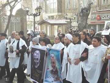 خروش مردم تبریز در محکومیت جنایت آمریکا