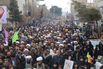 روایت خبرنگار خبرگزاری حوزه از راهپیمایی ضدتروریستی  مردم قم