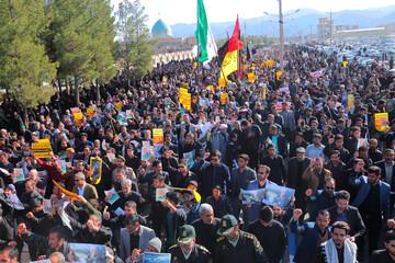تصاویر/ راهپیمایی مردم بیرجند در پی شهادت سردار سپهبد حاج قاسم سلیمانی