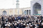 فیلم  اجتماع ضدتروریستی حوزویان در مسجد اعظم قم