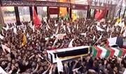 بالصور/ تشييع جثمان اللواء قاسم سليماني و القائد المهندس في كربلاء