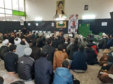حوزویان منطقه کاشان در مدرسه باب العلم تجمع کردند