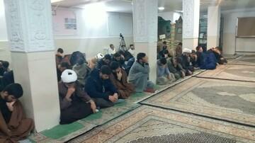 تصاویر/ مراسم گرامیداشت شهادت سردار سلیمانی در مدرسه علمیه بیجار