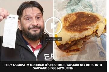 رستوران مک دونالد بار دیگر گوشت خوک به مسلمانان داد