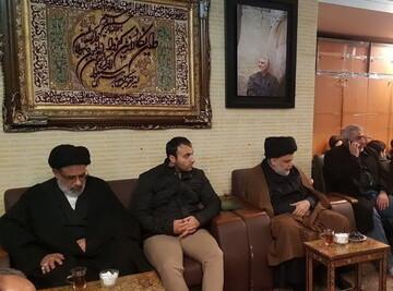 حضور مقتدا صدر در منزل سردار شهید سلیمانی+ عکس