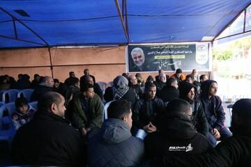 خیمه عزای مردم غزه برای سردار سلیمانی