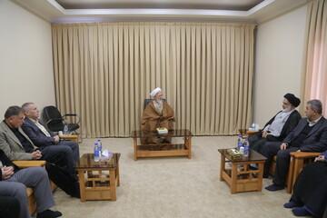 تصاویر / دیدار جمعی از اساتید دانشگاه های اقلیم کردستان عراق با آیت الله العظمی جوادی آملی