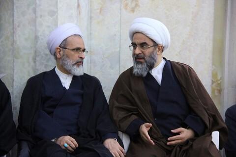حضور مراجع، علما و شخصیت های حوزوی در تجمع ضد تروریستی در مسجد اعظم قم