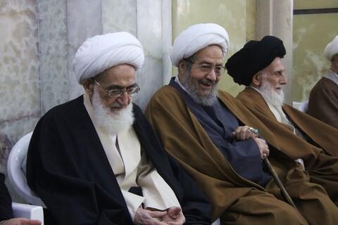 تصاویر/ حضور مراجع، علما و شخصیت های حوزوی در مراسم بزرگداشت سردار شهید قاسم سلیمانی