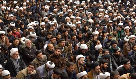 تصاویر/ تجمع حوزویان خراسان در حمایت از تداوم مقاومت و بزرگداشت شهید حاج قاسم سلیمانی