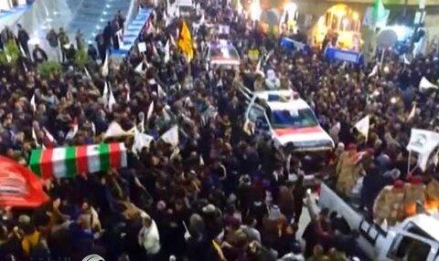 تشییع پیکر سردار سلیمانی و ابومهدی المهندس در کربلای معلی