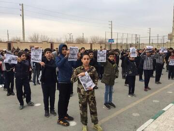 مراسم بزرگداشت شهید حاج قاسم سلیمانی در مدارس تهران برگزار شد