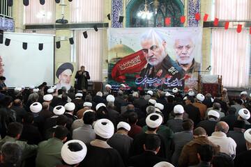 تصاویر/ مراسم گرامیداشت شهید سپهبد حاج قاسم سلیمانی در حوزه همدان