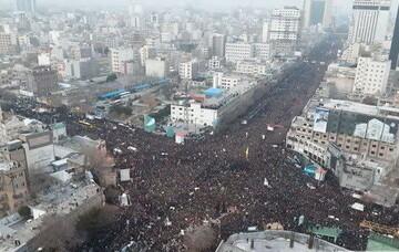 فیلم| وداع میلیونی بی نظیر مردم مشهد با حاج قاسم
