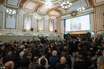 Muslims attend community memorial at Islamic Centre in London for the death of General Qassem Soleimani