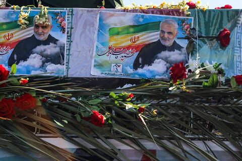 تصاویر/ تشییع بینظیر سردار سلیمانی و ابومهدی المهندس در اهواز (۲)