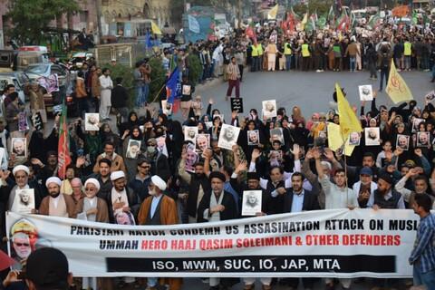 """تصاویر/ راهپیمایی مردم کراچی پاکستان در مقابل """" کنسولگری آمریکا"""""""