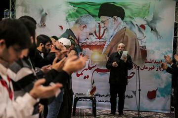 تصاویر/ مراسم بزرگداشت سپهبد حاج قاسم سلیمانی و ابومهدی المهندس در مدرسه علمیه مروی تهران
