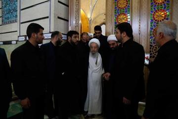 تصاویر/ حضور مراجع و علما در مراسم تشییع پیکر سپهبد شهید سلیمانی در حرم حضرت معصومه (س)