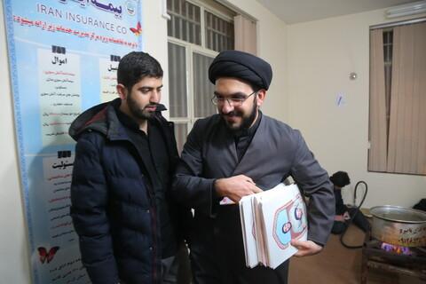 تصاویر / ایستگاه صلواتی طلاب حوزه علمیه قم به مناسبت شهادت سردار قاسم سلیمانی