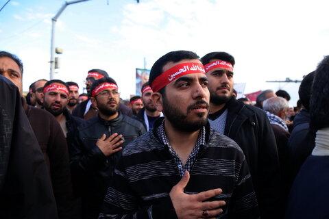 تصاویر / مراسم استقبال مردم قم از تشییع پیکر سردار سلیمانی و همرزمانش