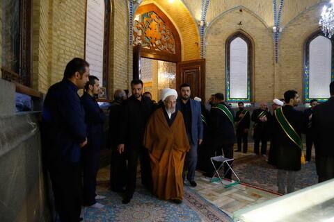 حضور مراجع و علما در مراسم تشییع پیکر سپهبد شهید سلیمانی در حرم حضرت معصومه (س)