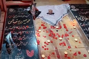 دفن سردار شهید قاسم سلیمانی با عبای نماز شب رهبر انقلاب