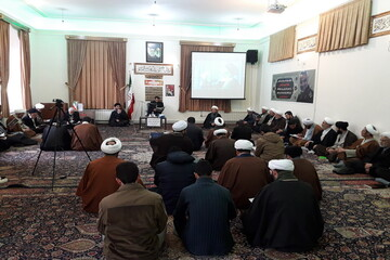 تصاویر / مراسم بزرگداشت سردار سلیمانی در مدرسه طالبیه تبریز