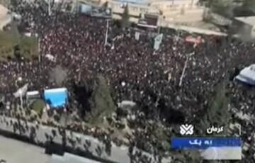 فیلم| تصاویر هوایی از حضور میلیونی کرمانیها