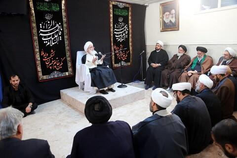 دیدار ائمه جمعه استان قم و اساتید مدرسه عالی مصلای قدس با آیت الله العظمی نوری همدانی