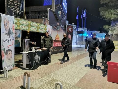 تصاویر/ ایستگاه صلواتی و آماده سازی شهر برای تشییع پیکر شهید سردار سلیمانی در کرمان