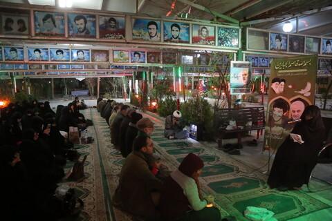 مراسم شام غریبان سپهبد شهید حاج قاسم سلیمانی توسط مادر شهید زینالدین