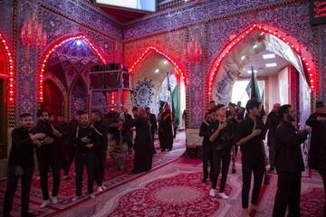 تصاویر/ عزاداری ایام فاطمیه در حرم حضرت عباس(ع)
