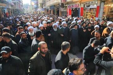 آية الله بشير حسين النجفي يحييّ ذكرى شهادة بضعة نبي الله الأعظم (ص) + الصور