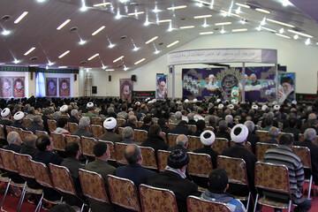 تصاویر/ یادواره شهدای روحانی نهاوند و بزرگداشت سپهبد شهید سلیمانی و چهلم آیت الله محمدی