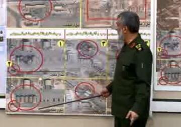 فیلم| تشریح ضربات حمله موشکی سپاه به پایگاه عین الاسد