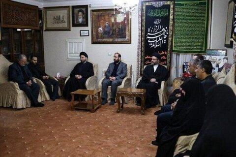 حضور عمار حکیم در منزل شهید سردار سلیمانی