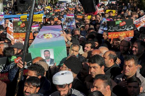 راهپیمایی مردمی و هیئتهای مذهبی بیرجند در حمایت از حمله موشکی سپاه