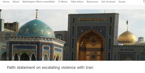 Faith statement on escalating violence with Iran