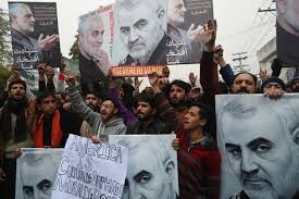 Pakistanis demonstrate US assassination of top Iranian General Soleimani