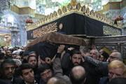 بالصور/ تشييع جثمان آية الله السيد هاشم رسولي المحلاتي بقم المقدسة