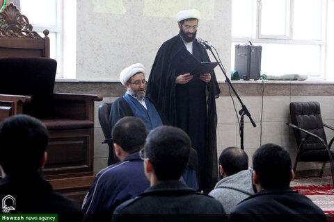 تصاویر/ معارفه نماینده مؤسس و مدیر جدید مدرسه علمیه ولی عصر(عج) اهواز
