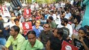 تصاویر/ تظاهرات ضد آمریکایی در باندره ممبئی هندوستان