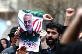 Popular protest in front of UN office over US assassination of Lte. Gen Soleimani