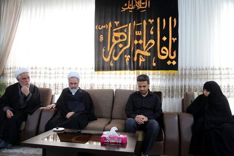 تصاویر/-دیدار مدیر حوزه با خانواده شهدای سانحه هوایی