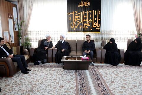 دیدار آیت الله اعرافی با خانواده جانباختگان سقوط هواپیمای اوکراینی